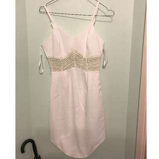 Popcherry white dress