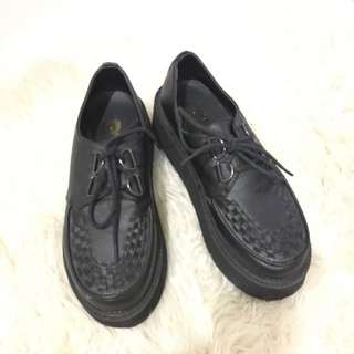 Dangerfield Black Creeper Shoes 36