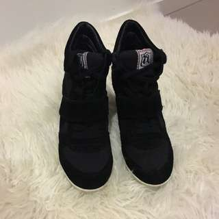 Ash Black Sneaker Wedges 36
