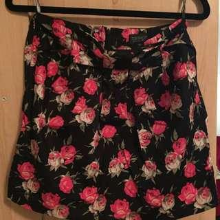 Topshop Floral Mini Skirt UK8/EU36
