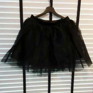 Black Mesh Tulle Skirt