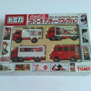 (Qyop)Tomica Limited Edition Coca Cola Car Set