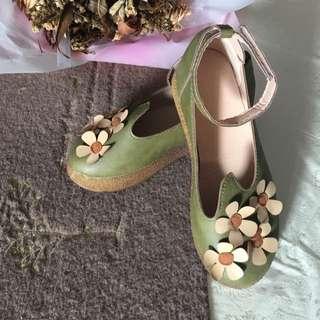 3D Flora Sling back Flats / Shoe Size38