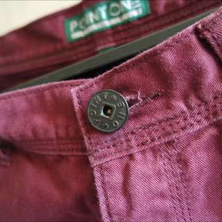 (REPRICE) POINT ONE - Dark Maroon Jeans