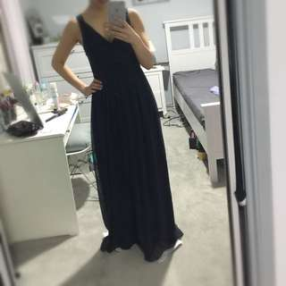 Forever New Formal Maxi Navy Dress AU8