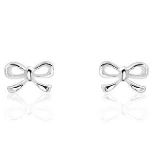 Sterling Silver Small Bow Stud Earrings