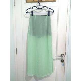 Mint Slit Skirt