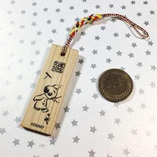 日本帶回-史迪奇木板小吊飾