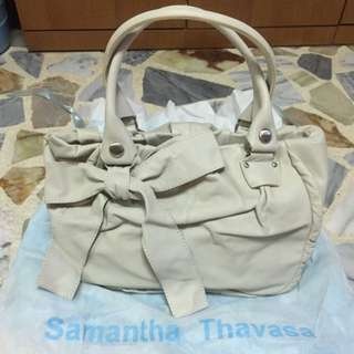 Brand New Beige Samantha Thavasa Leather Bag