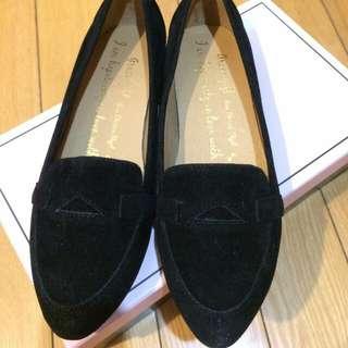 :+: grace gift 黑色 平底鞋 :+: