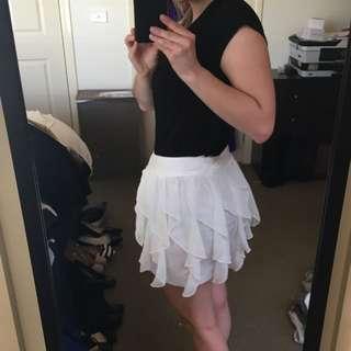 Sweet Acacia White Skirt