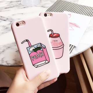 Peach IPhone Plus Casing