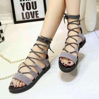 Gladiator Sandals - Grey