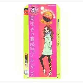 日本裹起毛150D高腰包腹發熱褲襪(9分)