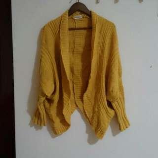 鮮黃色 毛衣 罩衫 外套 #外套特賣