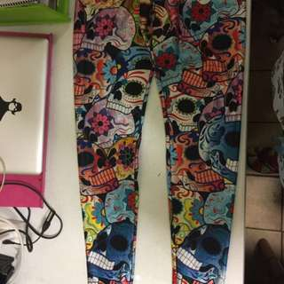 RARE Black Milk Day Of The Dead Leggings - L