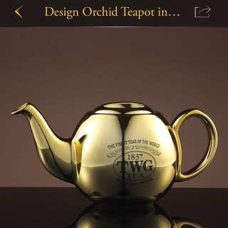 TWG Design Orchid Teapot Gold 900ml