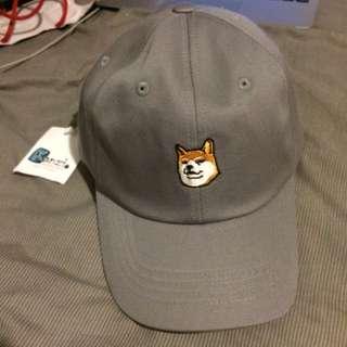 Dog Character Cap/hat Grey/Gray- Kanzi
