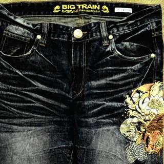 Big Train 七分牛仔褲(全新3L)