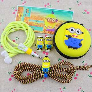 [INSTOCKS SALE!] ✨UPGRADED✨6-in-1 MINION Cable-Earpiece PROTECTOR Set