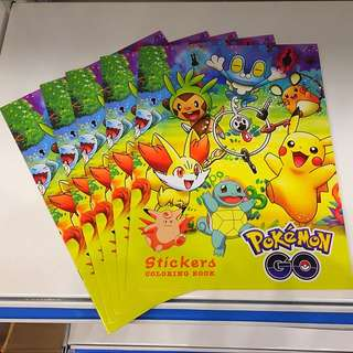 Brand New Pokemon Coloring/Sticker Books