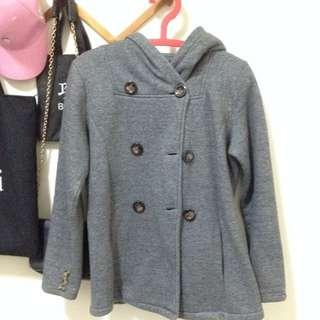 雙排扣內刷毛保暖外套