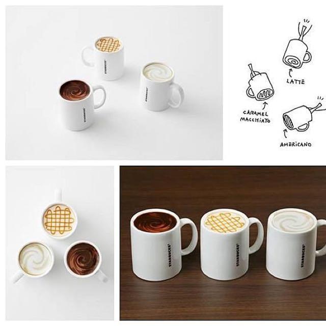 星巴克 日本 2014 Nendo 聯名馬克杯 喝不完的咖啡 3個一組 全新 原廠紙盒