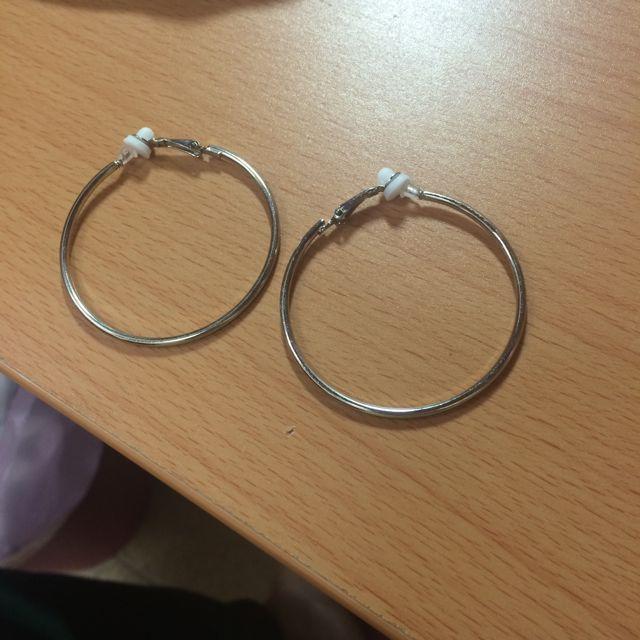 夾式圈圈耳環