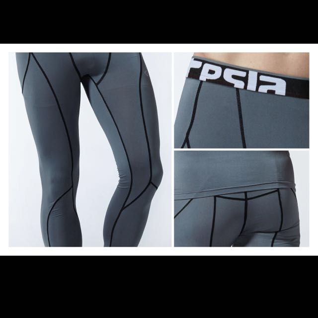 faf63c688966df (INSTOCK) Mens Tesla Gears Long Compression Tights / Shorts / Pants,  Sports, Sports Apparel on Carousell