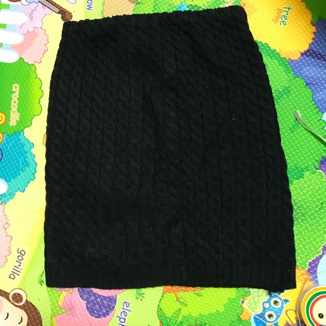 黑色毛線裙