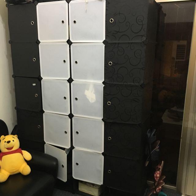 「搬家出清」拼裝收納櫃+衣櫃