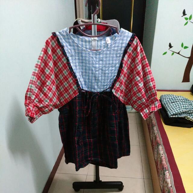 (保留)日系 拼布洋裝