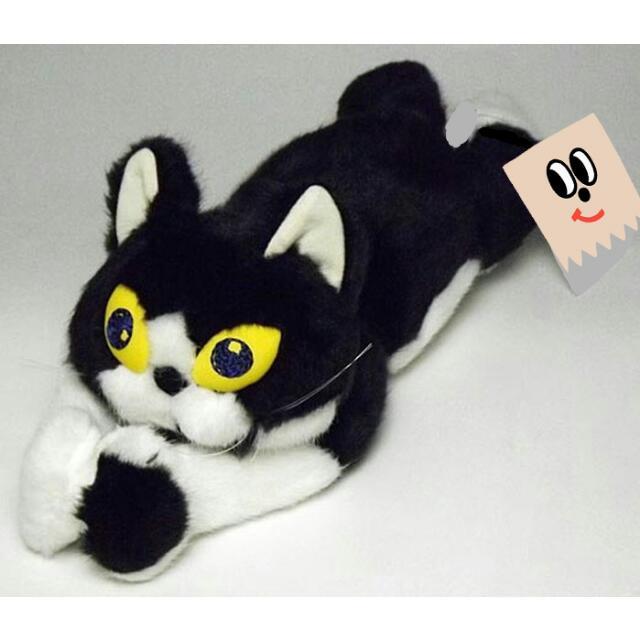 【日本代購】久下貴史 manhattaner's 黑白貓咪 趴姿娃娃玩偶布偶
