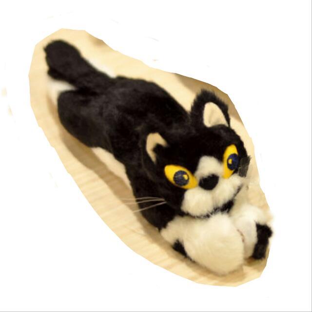 【日本代購】久下貴史 manhattaner's 黑白貓咪 趴姿手機螢幕擦娃娃玩偶布偶