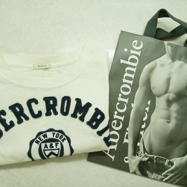 Abercrombie And Fitch  A&F 白色短T