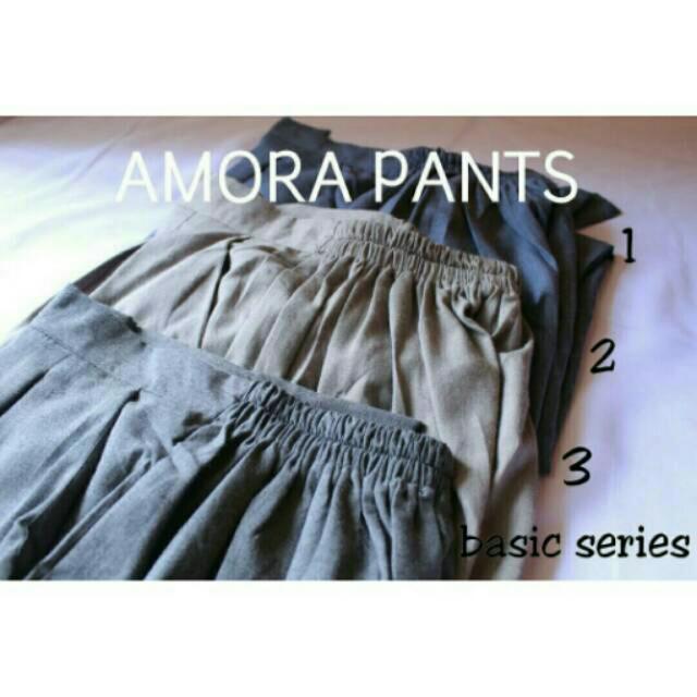 Amora Pants Basic Series Celana katun