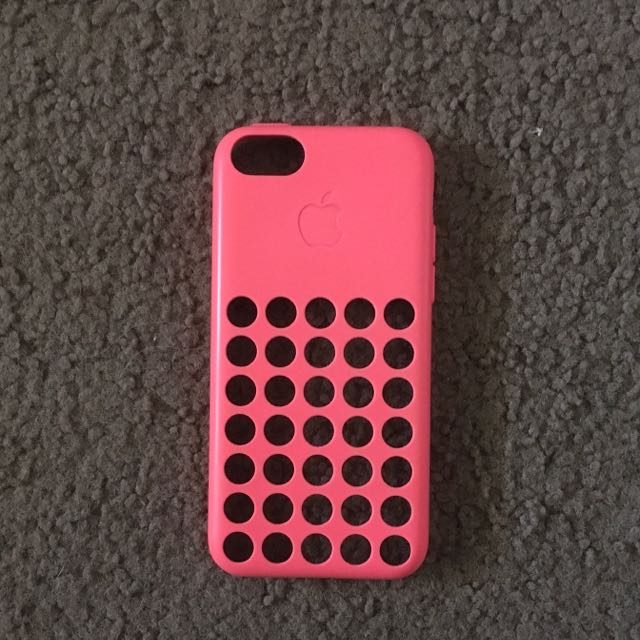 Authentic Apple iPhone 5C Pink Hard Back Case
