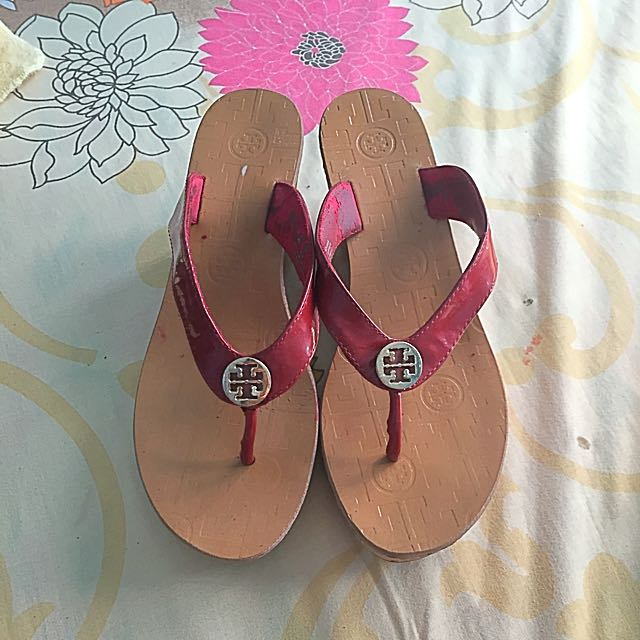 Authentic Tory Burch Wedge Slipper