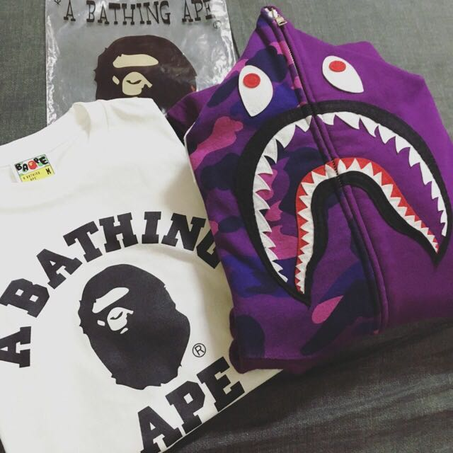 Bape Purple Shark