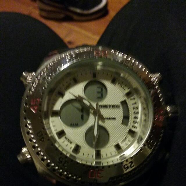 BISTEC WATCH MENS BRAND NEW NEVER WORN $800 Watch