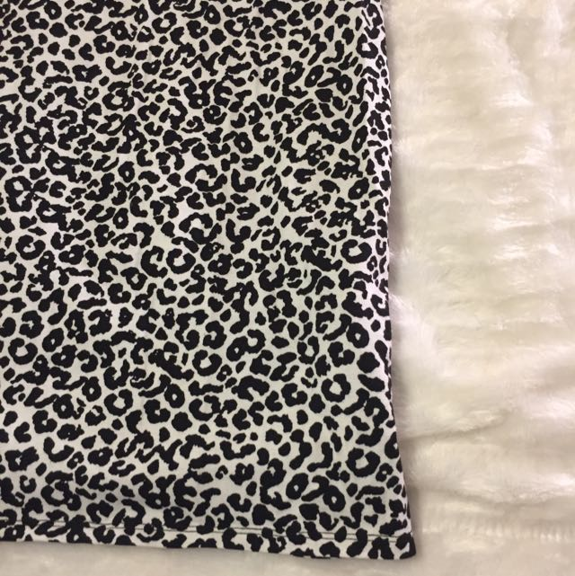 Black & White Cheetah Print Dress