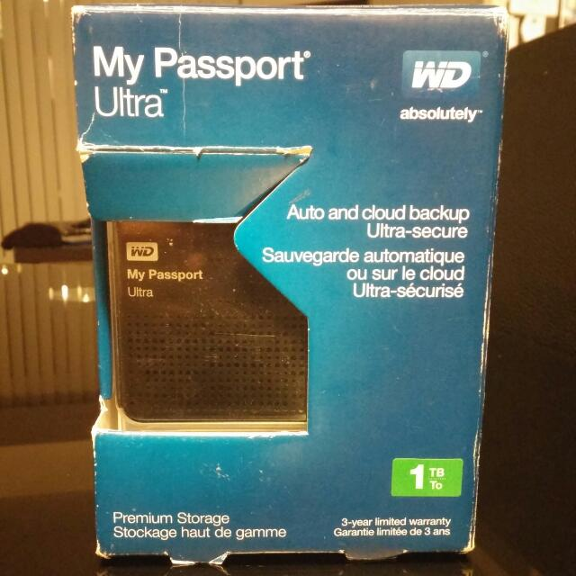 1TB - Black Passport Ultra