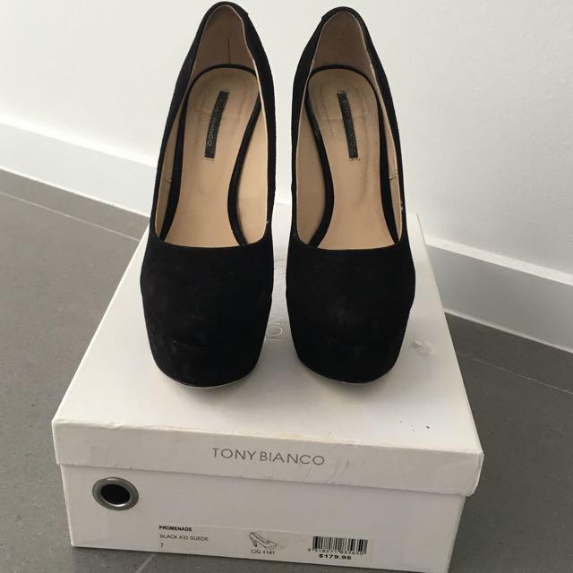 Black Tony Bianco Heels