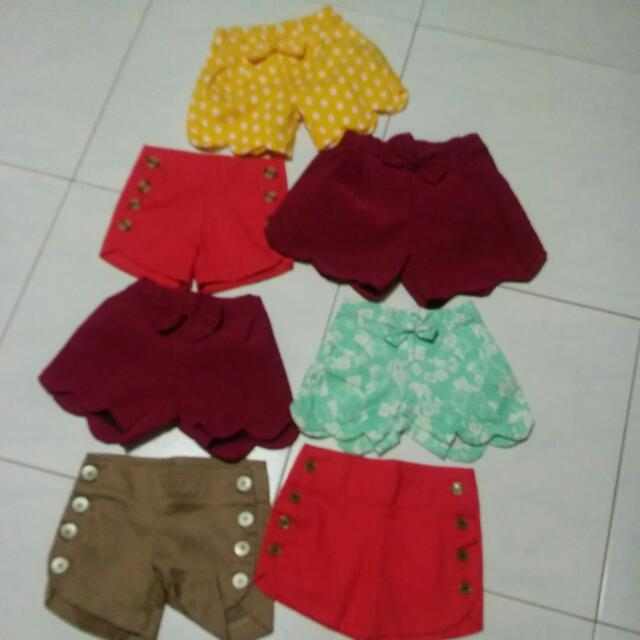BNWOT 7pcs Kiddy Shorts