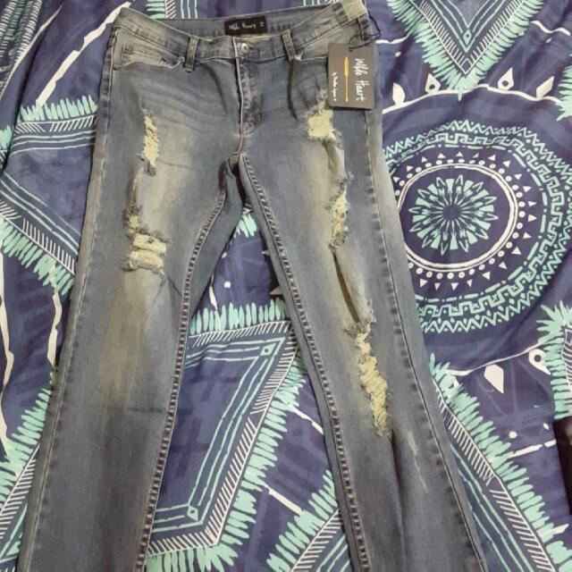 Brand New Ripped Madison Skinny Jeans