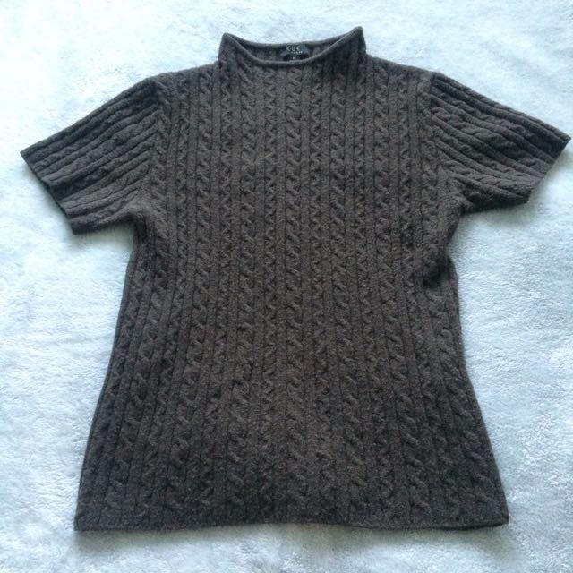 Brown Cue Knit Top