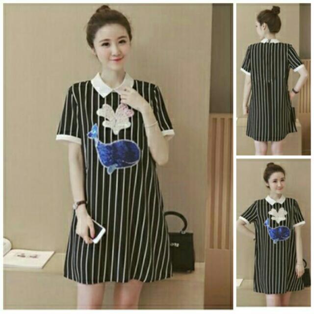 BT3151 Stripe Wilona Dress