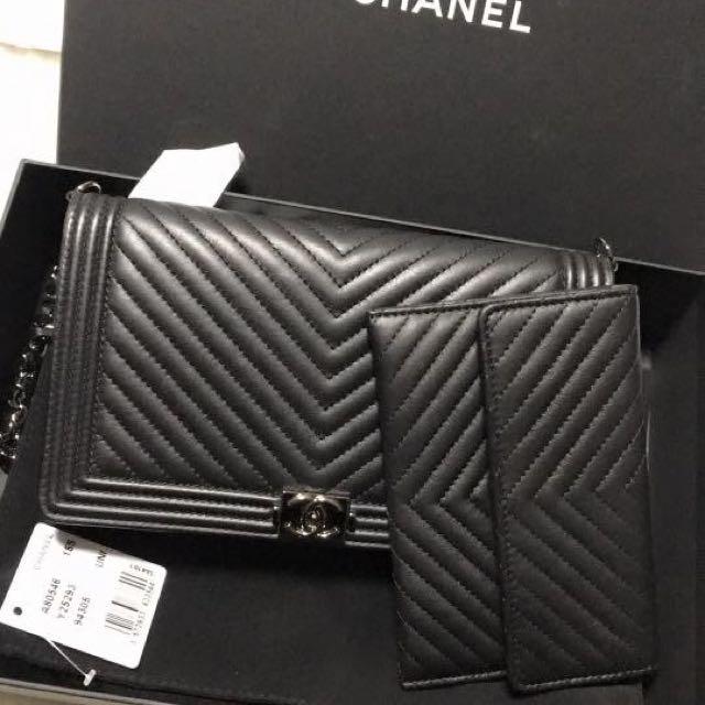Chanel Woc短鏈附卡夾