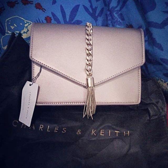 Charles N Keith Tassel Sling Bag