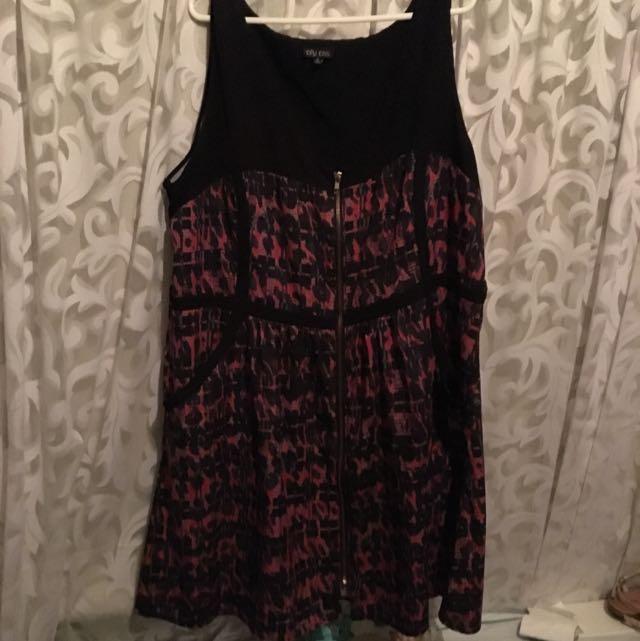 City Chic XL Zip Dress Knee Length